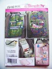 New Simplicity Sewing Pattern 2916 Car Organizers Designs by Robin Greenwood