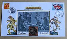 ACT OF UNION ENGLAND & SCOTLAND 300TH ANNIVERSARY 2007 BUCKINGHAM £2 COIN COVER