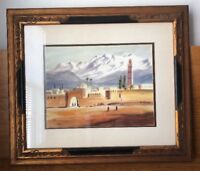 ORIGINAL MARIANO ORTUZAR SIGNED WATERCOLOR PAINTING CHILEAN Artist