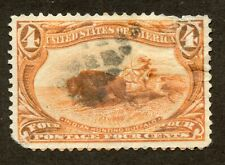 US 287 Indian Hunting Buffalo - Trans-Mississippi Exposition - Used - F/VF