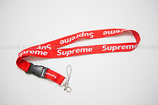 Supreme Red Lanyard Key Ring Chain Hanger Keychain