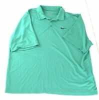 Nike Dri-Fit Mens Green Short Sleeve Collared Casual Golf Polo Shirt Size XXL