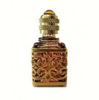 MINIATURE DE PARFUM COLLECTION CUBIQUE AMBRE JAUNE GRILLE DORE