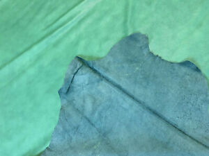 Leather Cowhide Sea Green Smooth Automotive Home 60 SqFt Upholstery Craft Hide