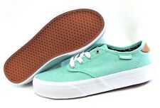 Girls Youth Kids Juniors Vans Camden Mint Green Tan White Canvas Sneakers Shoes