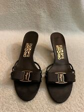 Salvatore Ferragamo Vara Black  Bow Pump Sandals Pump Heels Women's Size 7.5 B