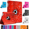 Apple iPad 2 3 4 iPad Air iPad Air2 Mini 2 3 4 Leather Bling 360° Rotate Case