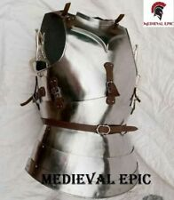 Medieval Knight Body Armor Breastplate Fluted Cuirass black Gothic