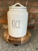 Rae Dunn Artisan Collection By Magenta RICE LL Large Canister Ivory Clean Farm