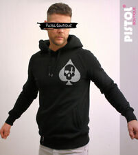 Pistol Boutique Black Pullover ACE OF SPADES SKULL CROSS HEART CHEST hoodie