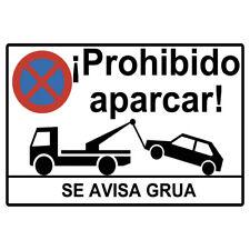 Cartel prohibido aparcar o placa prohibido aparcar forex PVC.DOCLIICK DC-16091