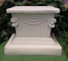 Roman Scroll Corinthian Pedestal Stand Latex Fiberglass Production Mold Concrete