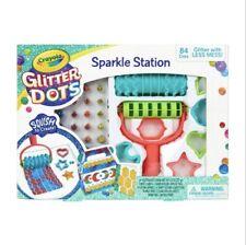 Crayola 106pc Glitter Dots Sparkle Station Brand New