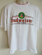 Vintage Budweister King of Beers White 50/50 T-Shirt, Size XL 1994 New old Stock
