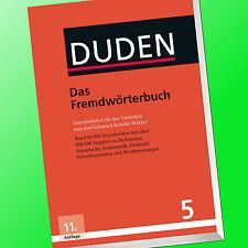 DUDEN (5) Das Fremdwörterbuch | 11. Auflage | Verstehen Fremder Wörter (Buch)