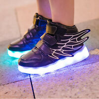 Ailes LED Light Up Chaussures 11 Couleurs Flashing Rechargeable Sneakers