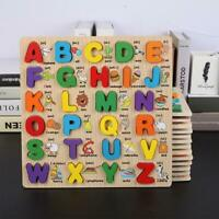 Wooden Alphabet ABC Jigsaw Learning Educational Puzzle Letter Children Kid Toys