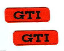 VW RACING TEAM GTI LOGO RACING VW GTI PERFORMANCE PARTS GTI 2-TAB SET