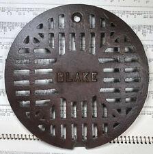 "Vintage Cast Iron BLAKE Floor Drain Grate 7 1/4"" Dia."