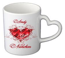 Tasse mit Herzgriff inkl. Deinen Namen gedruckt in Geschenkebox - LIMITIERT- TOP
