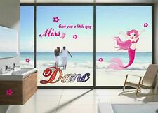 Miss mermaid Home Room Decor Removable Wall Stickers Decal Decorations