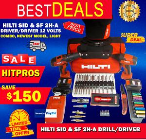 HILTI SID & SF 2H-A DRILL/DRIVER 12 VOLTS  COMBO, NEWEST MODEL, LIGHT, FAST SHIP