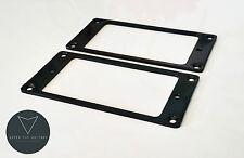 2x New Metal Humbucker Pickup Mounting Ring Surround (BLACK)