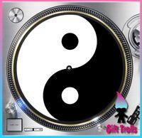 "Ying and Yang Turntable Slipmat - 12"" LP Record Player, DJ"