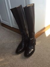HOBBS MARILYN ANSELM, FIT SLIM CALF- BROWN LEATHER/ELASTICATED BOOTS SIZE 38/5