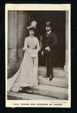 Royalty TRH Prince (King G5) and Princess of Wales 1906 RP PPC