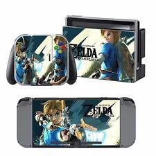 Nintendo Switch Console Joy-Con Dock Skin Zelda Breath of Wlid Decals Stickers