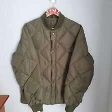 Cabelas Quilted Puffer Down Jacket Men's Large Olive Green