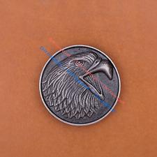 10PCS 30MM Antique Silver Western Eagle Cowboy Leathercraft Conchos Rivet Back
