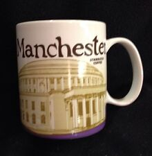 Starbucks Manchester Mug Central Library England UK Purple Icon Discontinued