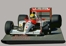 MODEL CARS, FORMULA ONE , F1, AYRTON SENNA, MCLAREN-01 with Clock
