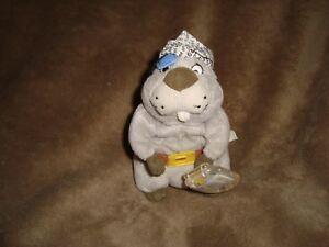 """Winnie the Pooh Gopher Pirate Fisher Price 2000 Mattel Star Bean 6"""""""