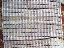 ANCIEN COUPON DE TISSU RIDEAUX MOTIFS  BLEU STYLE TOILE A BEURRE  - P  119