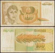 YUGOSLAVIA/JUGOSLAVIA 100 DINARA 1/3/1990