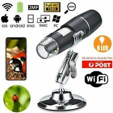 1000X WIFI 8LED Digital Microscope Magnifier Cam for Android iOS iPhone W/Stand