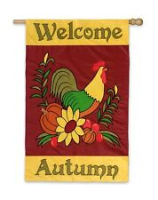 EVERGREEN Decorative Garden Flag WELCOME AUTUMN Rooster NEW!!!