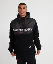Superdry Mens Sherpa Worldwide Stealth Half Zip Hoodie