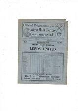 More details for 1930/31 west ham united v leeds united football programme