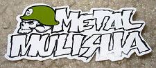 """METAL MULISHA Skull White Text Sticker 3"""" motocross skateboard bike decal skate"""