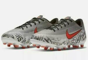 Boys Nike Jr Vapor 12 GS Neymar NJR Football Boots FG White Black Size UK 5.5