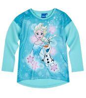 Disney Die Eiskönigin Elsa & Anna Langarmshirt blau Gr.128