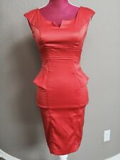 XOXO Corall Orange Fitted Satin Lase Bustier Cocktail Dress SIZE XS 00 Gorgeouse