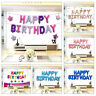 """Rose Gold SELF-INFLATING Happy Birthday Banner Balloon Bunting 16"""" Letters Foil"""