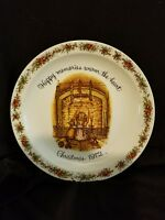Holly Hobbie 1972 Christmas Plate Commemorative Edition Collectible Vintage