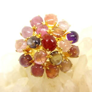 Muti color Spinel Round Sharp Gemstone ring women