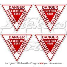 DANGER Ejection Seat RAF Martin Baker, Sticker Decal x4